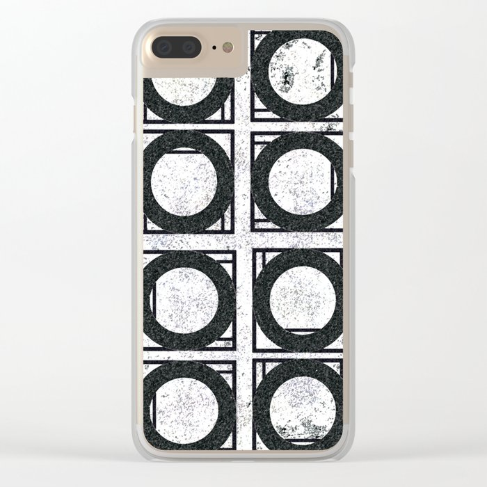 Beyond Zero in black and white Clear iPhone Case