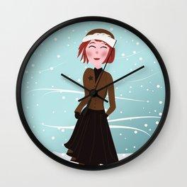Dreamgirl Katie in Winter Wall Clock