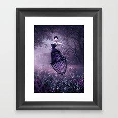 Black magic fairy Framed Art Print