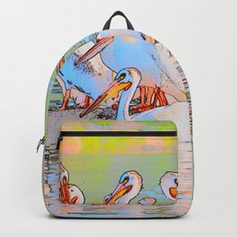 White Pelicans Backpack