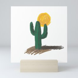 Cactus and Sun Mini Art Print