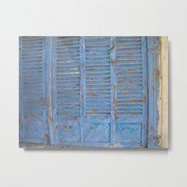 Blue door photography Metal Print