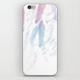 Feather Sketch iPhone Skin