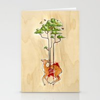 cycle Stationery Cards featuring Cycle by katy-makes-things