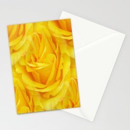 Modern Abstract Seamless Yellow Rose Petals Stationery Cards