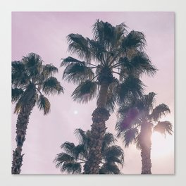 Palm Tree Art Print {2 of 3} | Magenta Pastels Topical Beach Plant Nature Vacation Sun Vibes Artwork Canvas Print