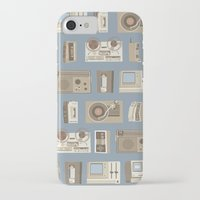 technology iPhone & iPod Cases featuring Obsolete Technology by Daniel long Illustration