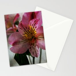 Textured Lily of the Incas Stationery Cards