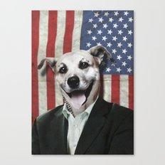 Patriotic Dog | USA Canvas Print