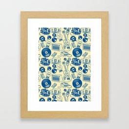 Musical Monsters Framed Art Print