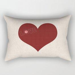 Knitted heart Rectangular Pillow