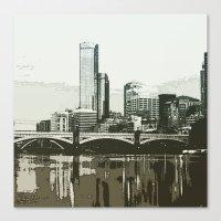 melbourne Canvas Prints featuring Melbourne by dkazbar