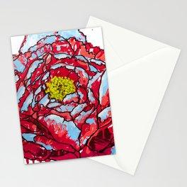 Aqua Blasted Peony Stationery Cards