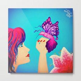 Magical Things Acrylic Painting Metal Print