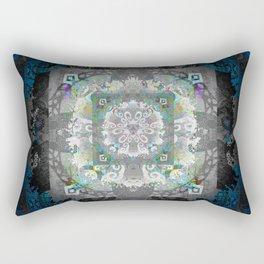 Enchanted Gothic Shadow Meditation Mandala Rectangular Pillow