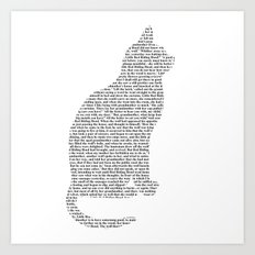Cat - Cut out Art Print