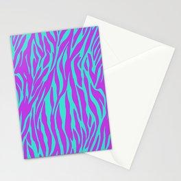 Purple and Green Zebra print Stationery Cards