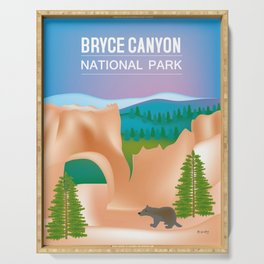 Bryce Canyon National Park, Utah - Skyline Illustration by Loose Petals Serving Tray