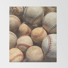 Baseball Obsession Throw Blanket