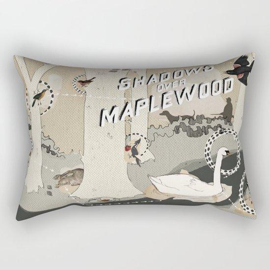 shadows over maplewood Rectangular Pillow