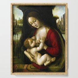 Bernardino dei Conti Madonna and Child Serving Tray