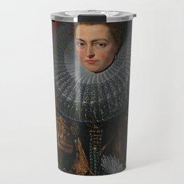 Tudor Lady in large Ruff collar Travel Mug