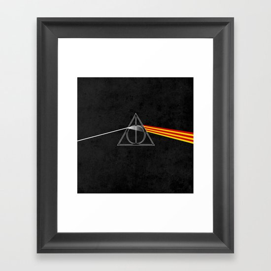 the darkside of the deathly hallows Framed Art Print