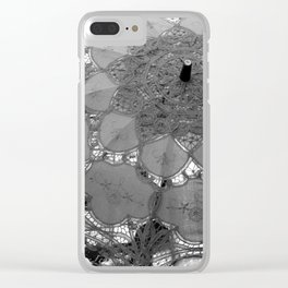 Parasol in Lace, Lady Grey Clear iPhone Case