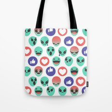 Alien Reactions Tote Bag