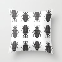 beetle Throw Pillows featuring Beetle by Najla
