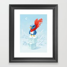 Super Penguin Framed Art Print