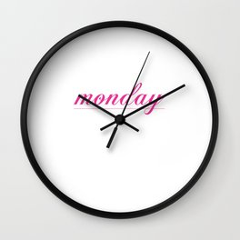Rule for Monday Funny Graphic T-shirt Wall Clock