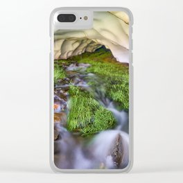 Ice Cave. At the mountain Clear iPhone Case