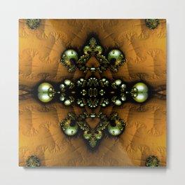 Regal Brooch Yellow Metal Print
