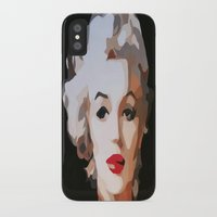 monroe iPhone & iPod Cases featuring Monroe by The Art Of Gem Starr