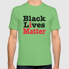 BLACK LIVES MATTER Mens Fitted Tee Grass 2X-LARGE