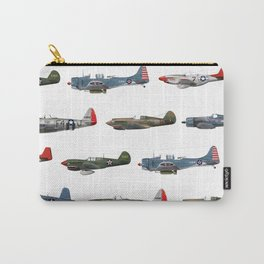 Pattern of World War 2 Fighter Planes Carry-All Pouch
