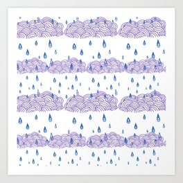 Raindrops keep falling... Art Print