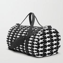 Black White Stars Pattern Duffle Bag