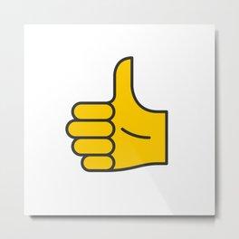 Hand Gesture - Thumbs Up Metal Print