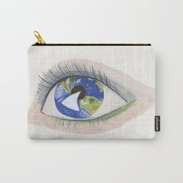 The Eye Sees Earth Carry-All Pouch