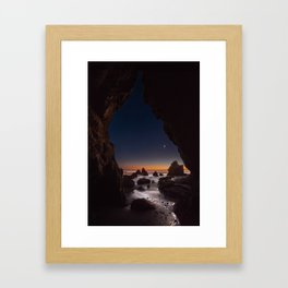 Starry Cave Night Framed Art Print