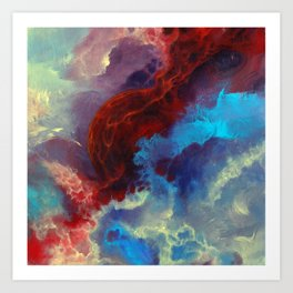 Everything begins with a spark Art Print