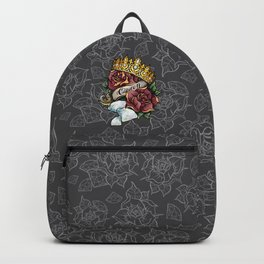 Queen of Diamonds tattoo pattern illustration Backpack