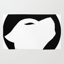 Wolf silhouette Rug