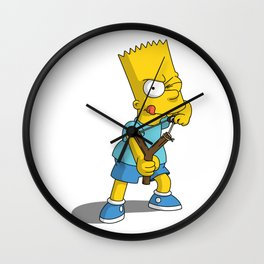 Bart Simpson PNG Wall Clock