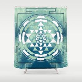 Sri Yantra Sky Mandala Shower Curtain