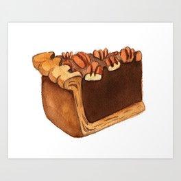 Pecan Pie Slice Art Print