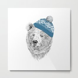 Hello Winter Metal Print