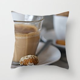 CoffeeCups Throw Pillow